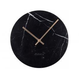Nástěnné hodiny ZUIVER MARBLE TIME Ø 25 cm, mramor, černá 8500033 Zuiver