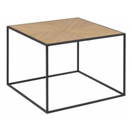 Konferenční stolek Dynamo 60x45 cm, dýha, paulovnie SCHDN0000075362 SCANDI