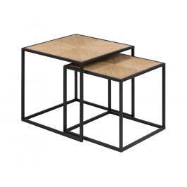 Set konferenčních stolků Dynamo, dýha, paulovnie SCHDN0000075363 SCANDI
