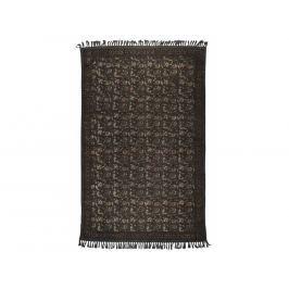 Koberec DUTCHBONE INDIAN BLOCK 180x120, bavlna, tmavě šedá 6000029 Dutchbone