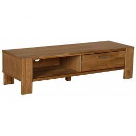 TV stolek Ciara, dýha, tmavý dub SCHDN90920-1 SCANDI