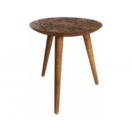 Odkládací stolek DUTCHBONE BY HAND L Ø 40 cm, sheesham 2300046 Dutchbone