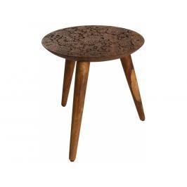 Odkládací stolek DUTCHBONE BY HAND M Ø 35 cm, sheesham 2300045 Dutchbone