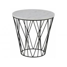 Odkládací stolek Marila 50 cm, mramor, bílá SCHDNH000018045 SCANDI