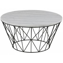 Konferenční stolek Marila 80 cm, mramor, bílá SCHDNH000018048 SCANDI