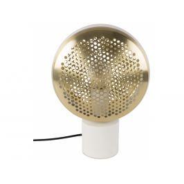 Stolní lampa ZUIVER GRINGO, bílá/mosaz 5200041 Zuiver