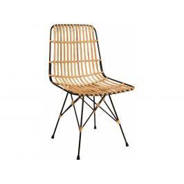 Jídelní židle DUTCHBONE KUBU, ratan, černá 1100228 Dutchbone