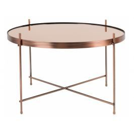 Konferenční stolek ZUIVER CUPID Ø 62,5 cm, měď S2300049 Zuiver