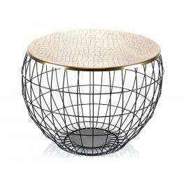Konferenční stolek Base Aluro, černá/zlatá A00261 Aluro