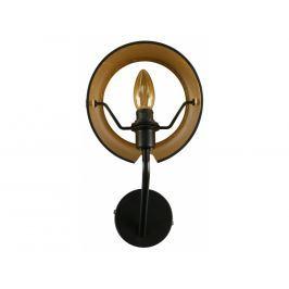 Nástěnné světlo Loma, kov, černá/zlatá dee:373737-Z Hoorns