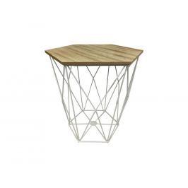 Designový stolek Metal, bílá podnož 200344 CULTY +