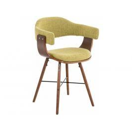 Jídelní židle Dancer, podnož ořech, zelená látka | -50 % Scsv:181088034 DMQ+