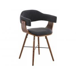 Jídelní židle Dancer, podnož ořech, látka | -50 % Scsv:181087656 DMQ+