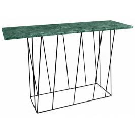 Toaletní stolek Rofus, černá podnož, zelený mramor 9500.627484 Porto Deco