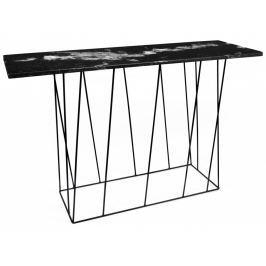 Toaletní stolek Rofus, černá podnož, černý mramor 9500.627477 Porto Deco