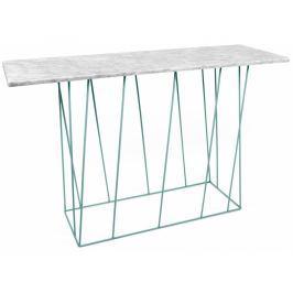 Toaletní stolek Rofus, zelená podnož, bílý mramor 9500.627507 Porto Deco