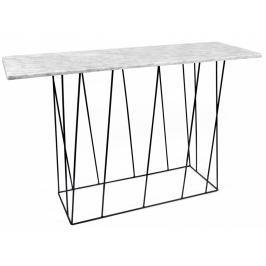 Toaletní stolek Rofus, černá podnož, bílý mramor 9500.627460 Porto Deco