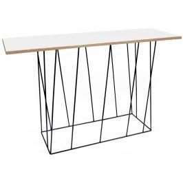 Toaletní stolek Rofus, černá podnož, matná bílá 9500.626999 Porto Deco