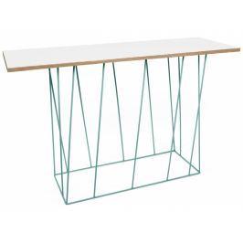 Toaletní stolek Rofus, zelená podnož, matná bílá 9500.626975 Porto Deco