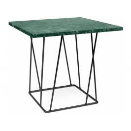 Odkládací stolek Rofus, černá podnož, zelený mramor 9500.627330 Porto Deco