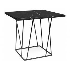 Odkládací stolek Rofus, černá podnož, černý mramor 9500.627323 Porto Deco