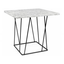 Odkládací stolek Rofus, černá podnož, bílý mramor 9500.627316 Porto Deco