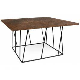 Konferenční stolek Rofus II, černá podnož, rez 9500.626906 Porto Deco