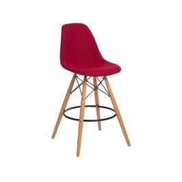 Designová barová židle DSW čalouněná, červená/šedá 85021 CULTY