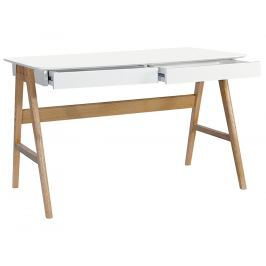 Pracovní stůl Wood 120 cm, bílá kh:1756 Culty Gold