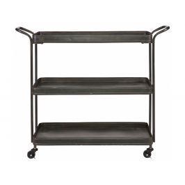 Odkládací stolek Lab na kolečkách, černá dee:800488-Z Hoorns