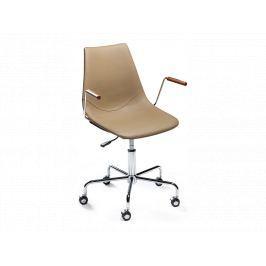 Kancelářská židle DanForm Cross, béžová ekokůže DF700770400S DAN FORM