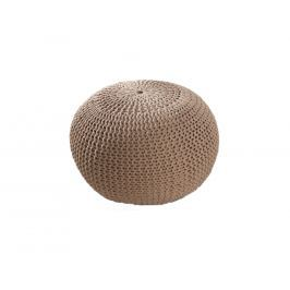 Sedací pletený puf 50 cm, kávová Sin:35088 CULTY HOME +