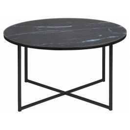 Konferenční stolek Venice 80 cm, sklo, černá SCHDN0000069558S SCANDI+