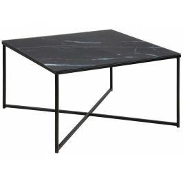 Konferenční stolek Venice 80x80 cm, sklo, černá SCHDN0000067561S SCANDI+