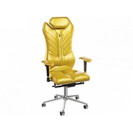 Kancelářské křeslo Monarch, látka/kůže/ekokůže (Zlatá)  KS-0202 Kulik System
