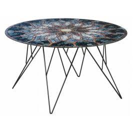 Konferenční stolek Stark 80 cm, sklo, potisk SCHDNH000016789 SCANDI