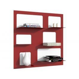 Designová knihovna Marina 3, červená 71523 CULTY