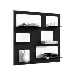 Designová knihovna Marina 3, černá 71529 CULTY