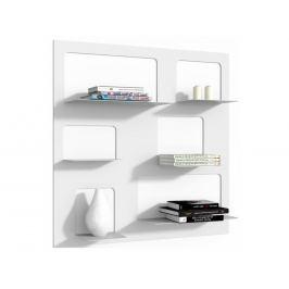 Designová knihovna Marina 3, bílá 71520 CULTY