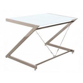 Počítačový stůl Zoom 122x76 cm, Chrom/Bílá UN:446 Office360
