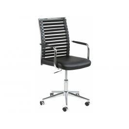 Kancelářská židle Arian, ekokůže, černá SCHDN0000061294 SCANDI