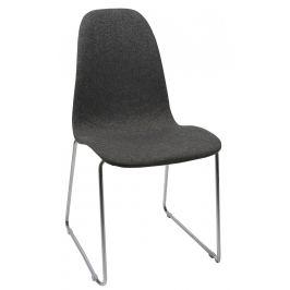 SCANDI Antracitově šedá čalouněná židle Barcy