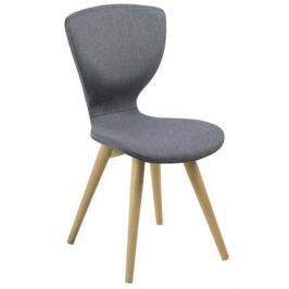 SCANDI Židle Greta, látka, šedá