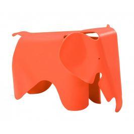 Culty Gold Oranžová dětská plastová stolička Slon