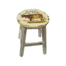 Stolička bílá/kráva antik