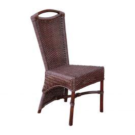Jídelní židle ratan hnědá
