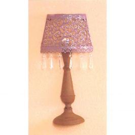 Nástěnná dekorativní kovová lampa fialová/hnědá