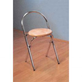 Skládací židle chrom/buk