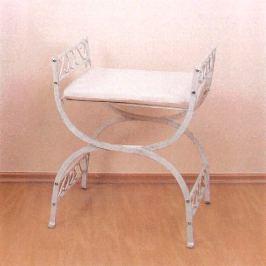 Kovová stolička bílá/zlatá