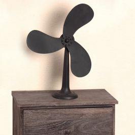 Stojací dekorace ventilátor kov černá